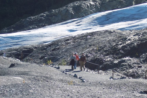 Hiking the Trail to Exit Glacier