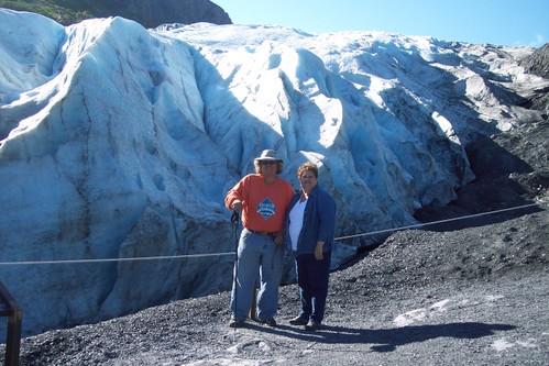 Joe & Jeri at Exit Glacier, Seward