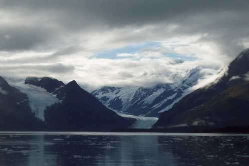 Sun Peeking Out - Glacier Cruise