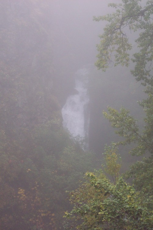 Thunderbird Falls in the Fog
